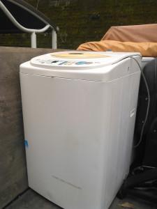 鹿児島市白山町で洗濯機の回収ご依頼のお客様のビフォー写真