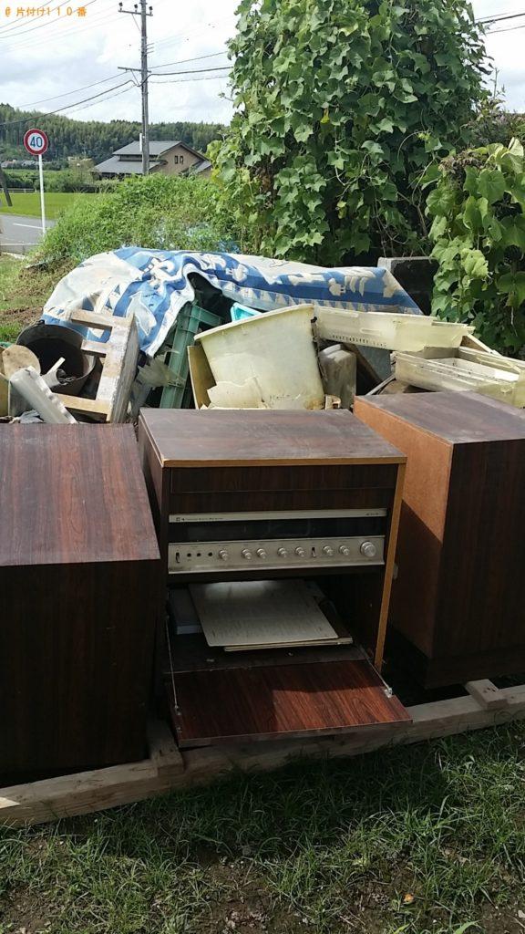 【姶良市】遺品整理で棚、食器、カゴ、バケツ等の回収・処分ご依頼 お客様の声