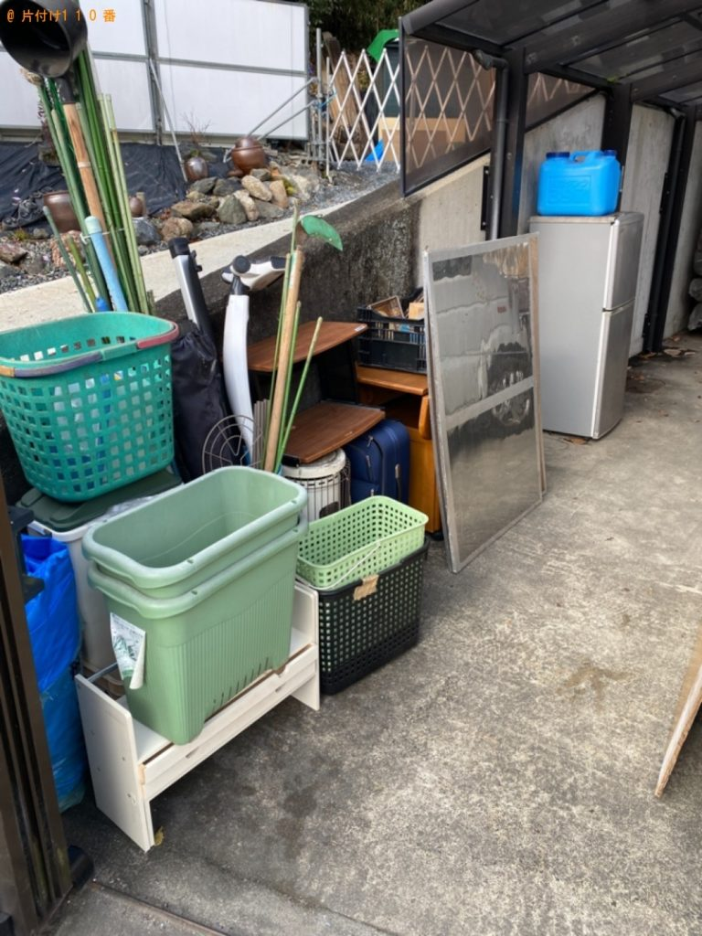 【鹿児島市】遺品整理で冷蔵庫、学習机、布団、スポーツ用品、一般ごみ等の回収
