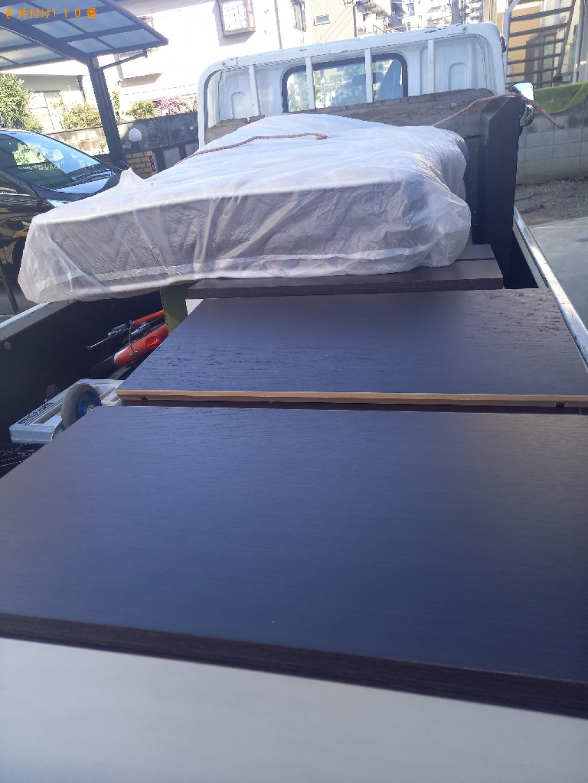 【鹿児島市】マットレス付きシングルベッドの回収・処分ご依頼