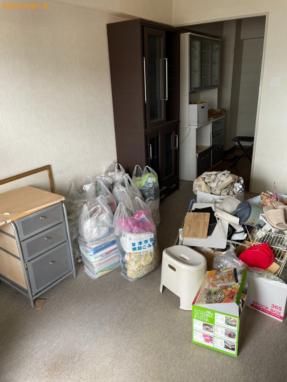 【鹿児島市】本棚、食器棚、マットレス付きシングルベッド等の回収